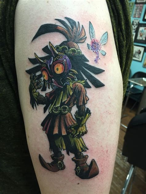 majora s mask tattoo majora s mask by greg ross from blue in