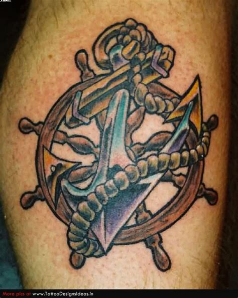 anchor and wheel tattoo tattoo collections