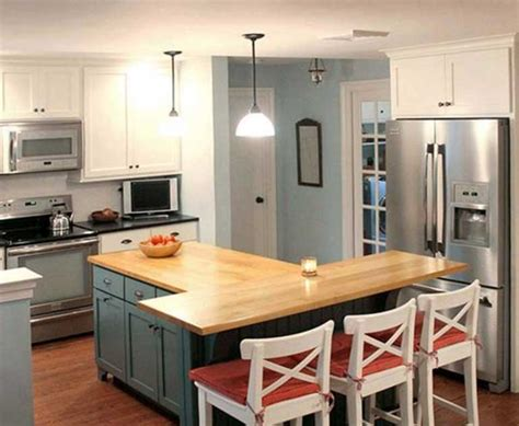 t shape kitchen island design pictures remodel decor t shaped kitchen island with wooden countertop home