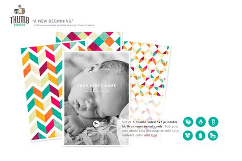 beginning card template new beginning birth announcements card templates on