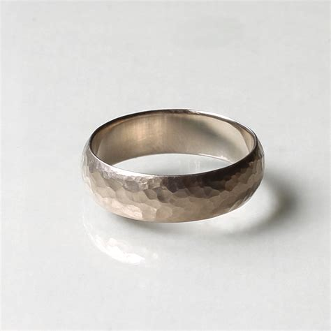 Handmade Wedding Bands For - hammered handmade wedding band by kendra renee
