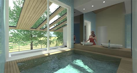 Bagno In Piscina In Villa Con Piscina Sull Adriatico Esempio Di Progetto