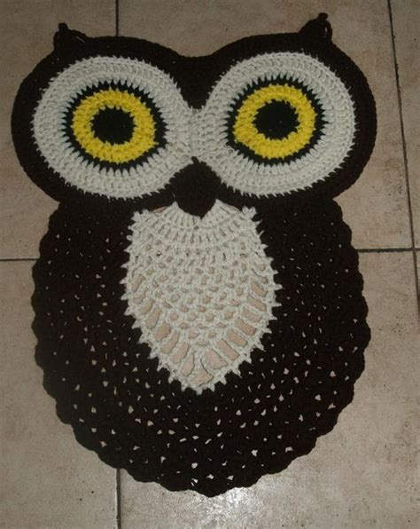 free crochet owl rug pattern crochet owl rug by vjf25 crocheting pattern
