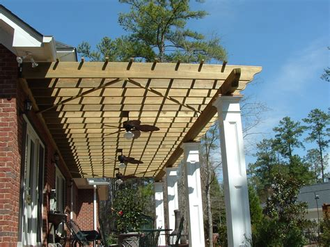 Wooden Pergola Plans Woodproject Antique White Wooden Pergola For