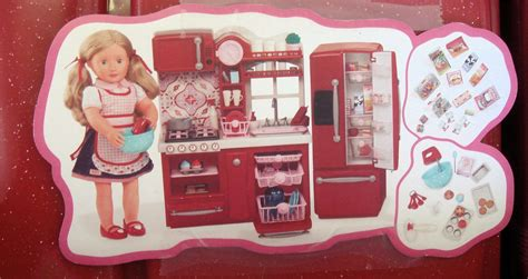 Our Generation Gourmet Kitchen Set Red For American Girl 18 Doll Kitchen Set