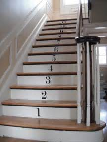 What Is A Stair Riser by How To Decorate Stair Risers With Numbers Decorating