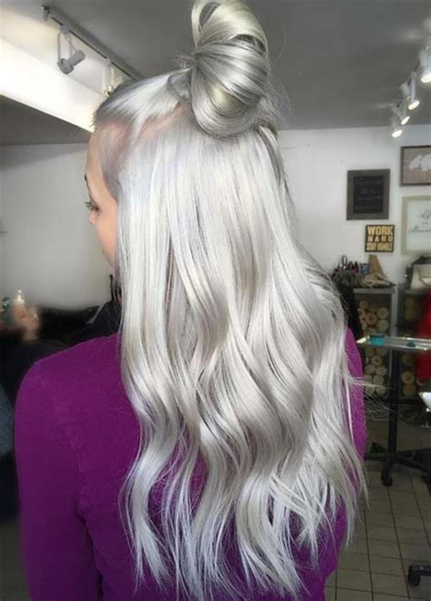 platinum grey hair color 85 silver hair color ideas and tips for dyeing