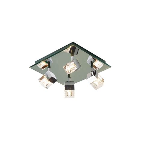 Dar Bathroom Lighting Dar Lighting Logic 4 Light Bathroom Ceiling Fitting In Polished Chrome Dar Lighting From