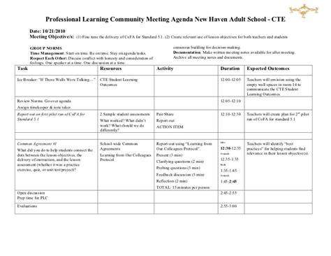 plc agenda template 2 best agenda templates