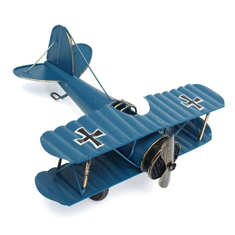 model home decor large retro blue plane airplane aircraft model home decor