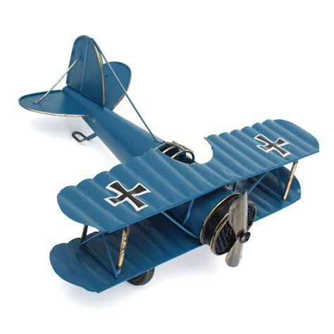 large retro blue plane airplane aircraft model home decor
