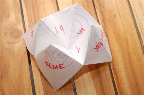 How To Make A Paper Fortune Teller Wikihow - make a cootie catcher origami fortune teller origami