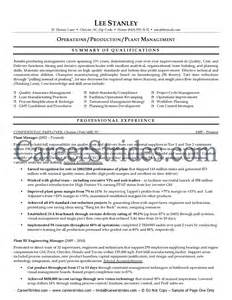 Manufacturing Manager Resume Samples Example Resume Sample Resume Production Supervisor