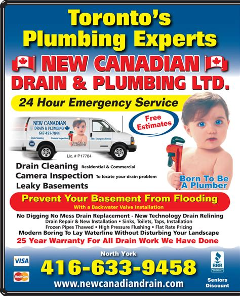 Canadian Plumbing by New Canadian Drain Plumbing Ltd 416 633 9458 Display