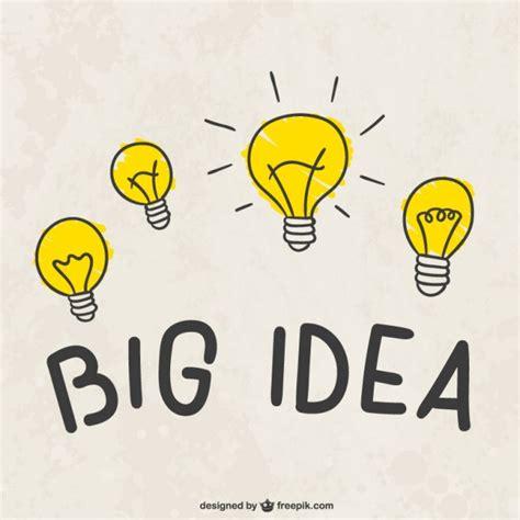 light ideas big idea light bulbs vector free