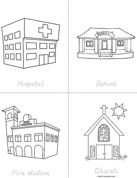 community map coloring page free coloring pages of places in the community
