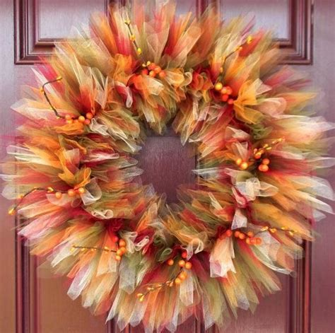how to make a fall wreaths for front door 25 unique fall tulle wreath ideas on tulle