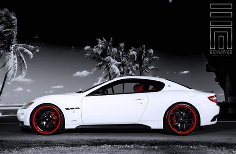 maserati granturismo white black rims lightweight rims for maserati giovanna luxury wheels