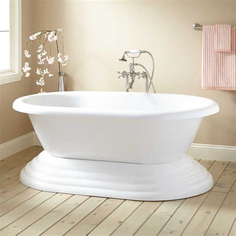 Bathroom Freestanding Tubs Barkley Acrylic Freestanding Pedestal Tub Acrylic Tubs