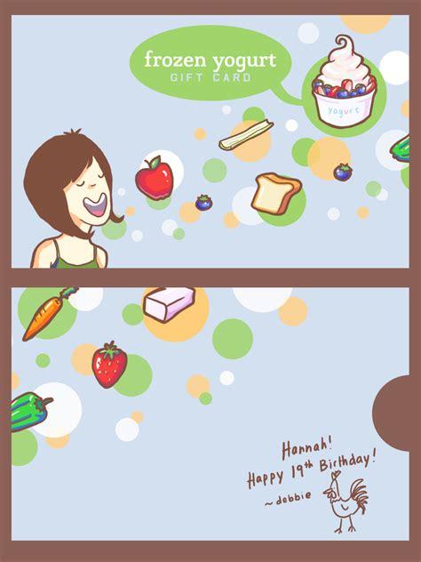 Yogurt Gift Card - frozen yogurt gift card by curfubles on deviantart