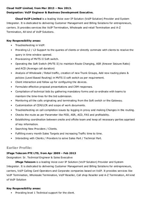 Voip Tester Sle Resume by Voip Testing Resume