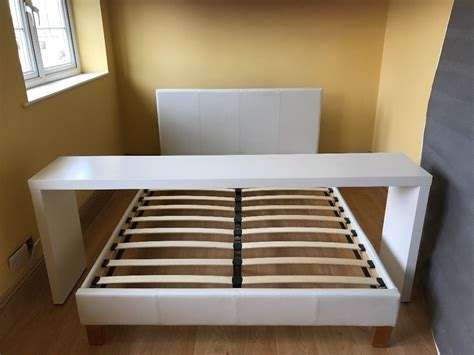 ikea bed table ikea malm white double bed over bed table in