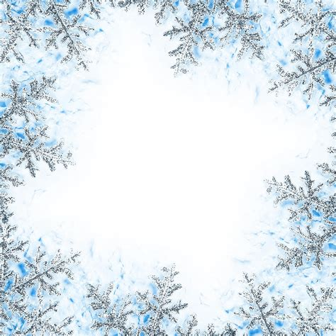 winter border writing paper snowflake frame clipart clipart suggest