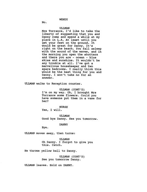 A Place Script Lost Script Pages For Deleted The Shining Finale
