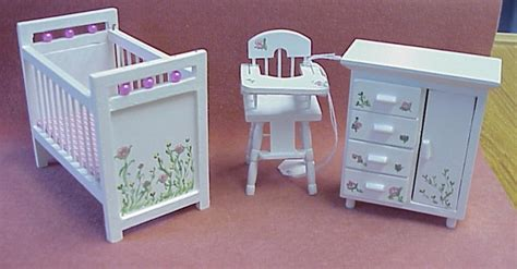 painted doll houses dollhouse hand painted furniture in 1 quot scale from fingertip fantasies dollhouse miniatures