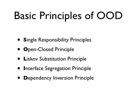 object oriented design principles quot solid quot object oriented design principles