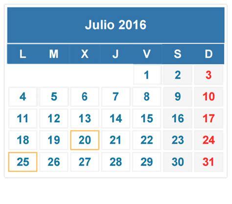 Calendario Mes Calendario Julio 2016 Im 225 Genes Para Descargar E Imprimir