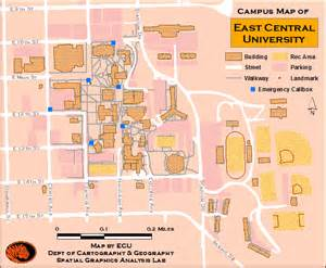 central college map east central