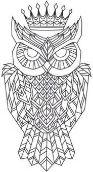 unique coloring pages regal owl threads unique and awesome embroidery