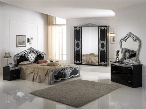 black and silver bedroom set cash and carry beds cristina black silver bedroom set