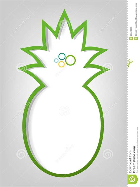 pineapple template poster template pineapple royalty free stock photo