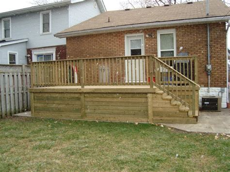 Make A Room windsor pressure treated deck with skirting decks and