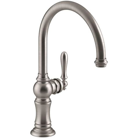 kohler single kitchen faucet kohler artifacts swing spout single handle standard