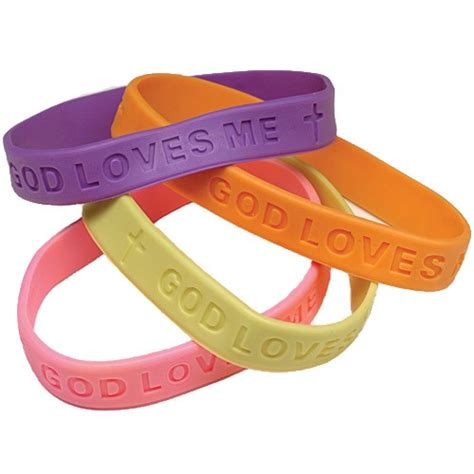 religious sayings rubber bracelets