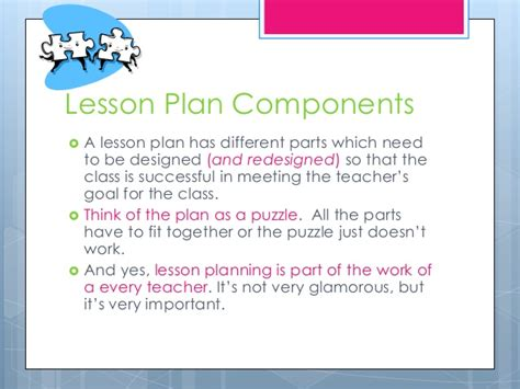 components of a lesson plan template lesson plan basics