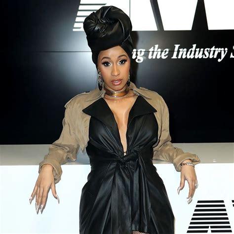 Set Black Dress Cardi cardi b does the risky skin reveal like a rulebreaking rap