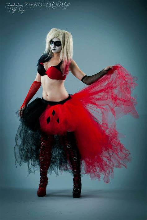 Handmade Harley Quinn Costume - harley quinn tutu tulle skirt wedding formal bustle
