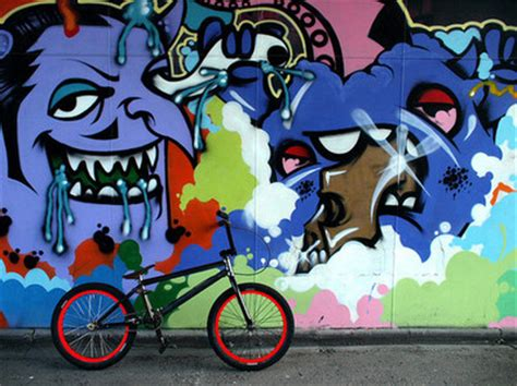 bicycle bmx cool graffiti nice image