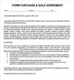 Sales And Purchase Agreement Template by Purchase And Sale Agreement 7 Free Pdf