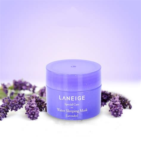 Laneige Water Sleeping Mask Lavender Mini Version 15ml m蘯キt n蘯 ng盻ァ laneige mini hoa o蘯 i h豌譯ng lavender water