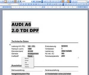 Muster Rechnung Verkauf Pkw Kfz Autofreund24 Part 2