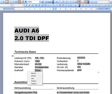 Vorlage Word Preisschild Kfz Autofreund24 Part 2