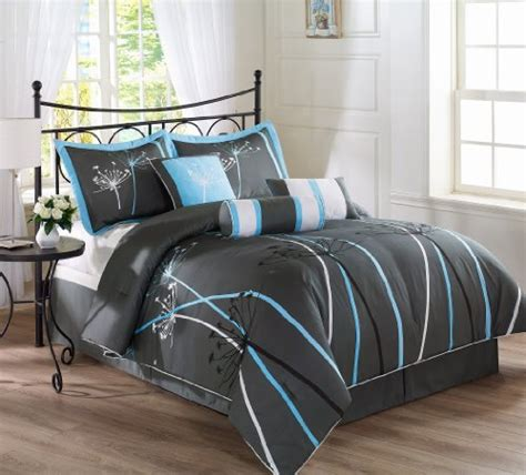 black and blue comforter black white and blue bedding