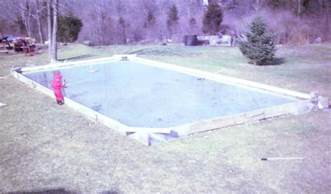 hockey rink in backyard family go round diy backyard ice rink