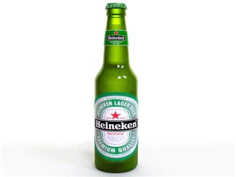 beer bottle heineken beer bottle 3d model max obj fbx lwo lw lws