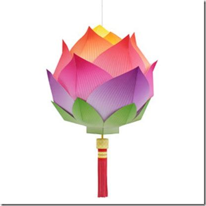 paper craft lanterns lotus flower paper lantern